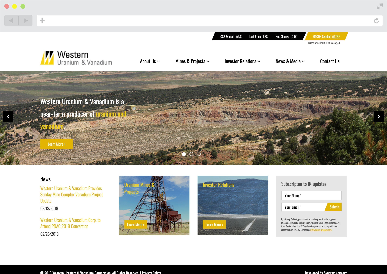 Western Uranium & Vanadium Website